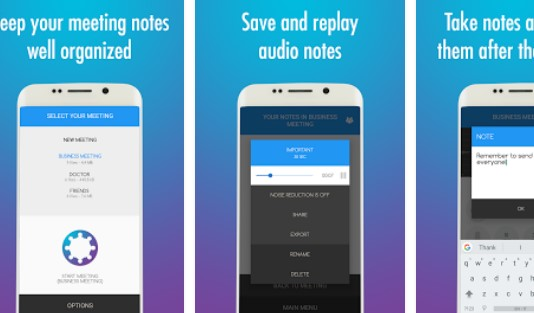 notes de réunion APK Android