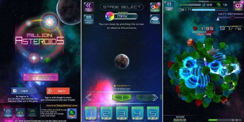 Million Asteroids MOD APK Android Game Free Download