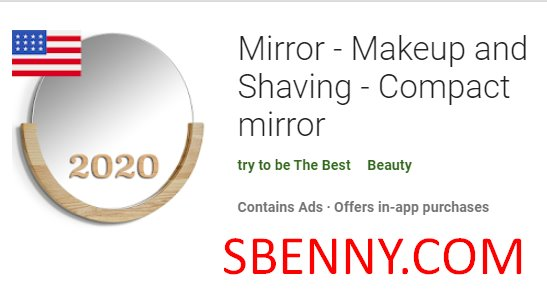 mirror makeup and shaving compact mirror