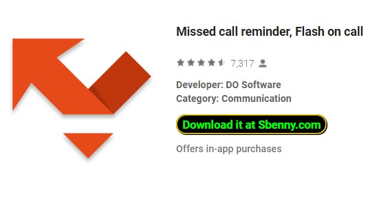 missed call reminder flash on call