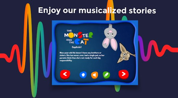 Monster and the Cat Story interactivo para niños APK Android