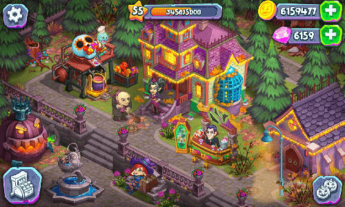 monster farm happy halloween game and ghost village APK Android