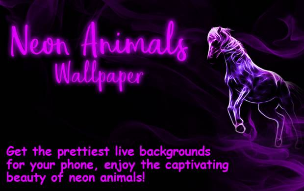 neon animals wallpaper moving backgrounds