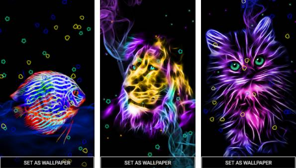 neon animals wallpaper moving backgrounds APK Android