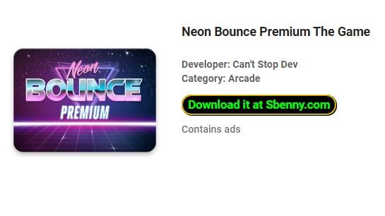 rimbalzo al neon premium del gioco