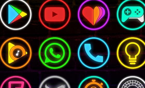 Неоновая свеча звонит значок APK Android