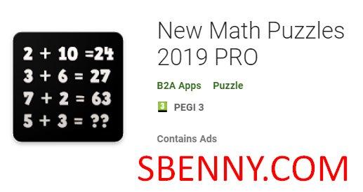 New Math Puzzles 2019 PRO
