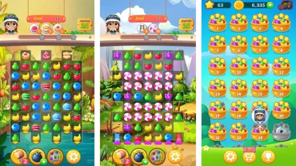 new tasty fruits bomb puzzle world APK Android