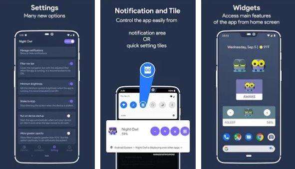 диммер экрана совы и ночной режим APK Android