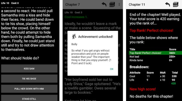 homme noble choix texte Aventure APK Android