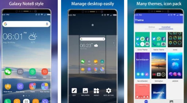 note 8 launcher galaxy note8 launcher  theme APK Android