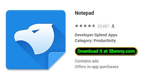 Notepad MOD APK Android Download