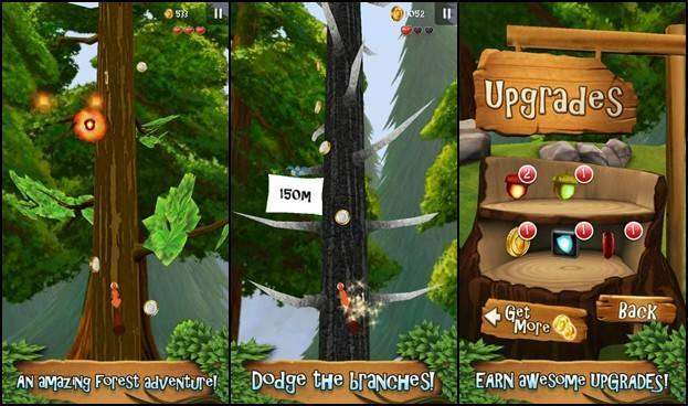 Nuts: Infinite Forest Run MOD APK Android Game Download
