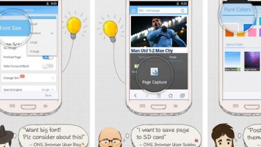 un navigateur APK Android