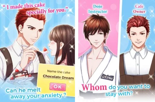 otome game love triangle APK Android