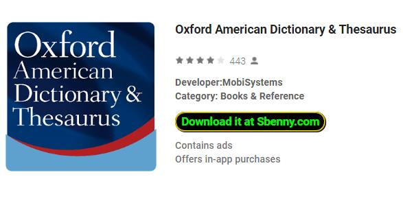 Oxford American Dictionary & Thesaurus MOD APK Download