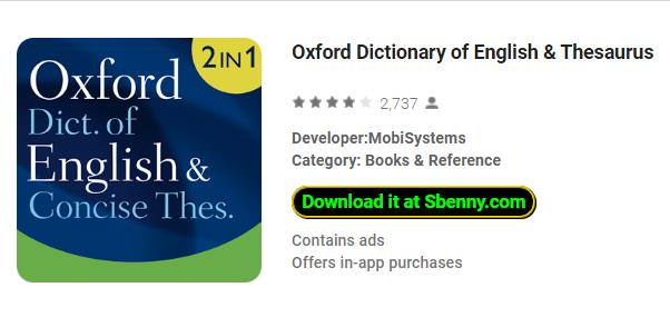 Oxford Dictionary MOD APK Android Free Download