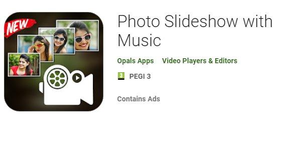 slideshow di foto con musica