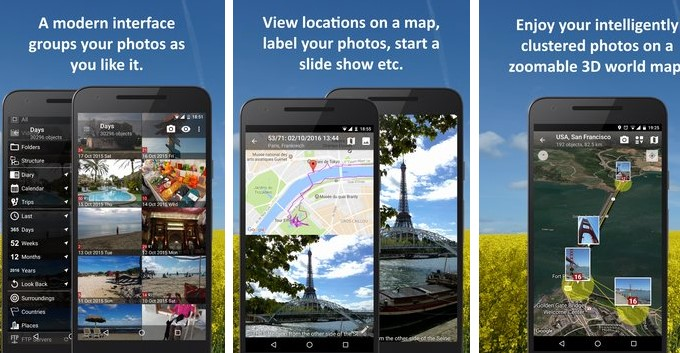 photomap galeria fotos vídeos e viagens APK Android
