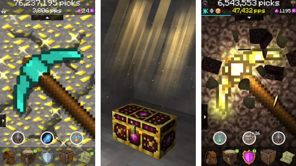 pickcrafter idle craft game APK Android
