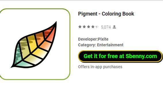 Livre coloriage pigmenté