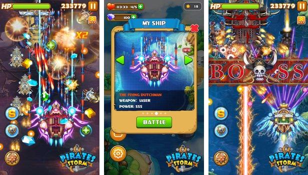 piratas navio tempestade batalhas APK Android
