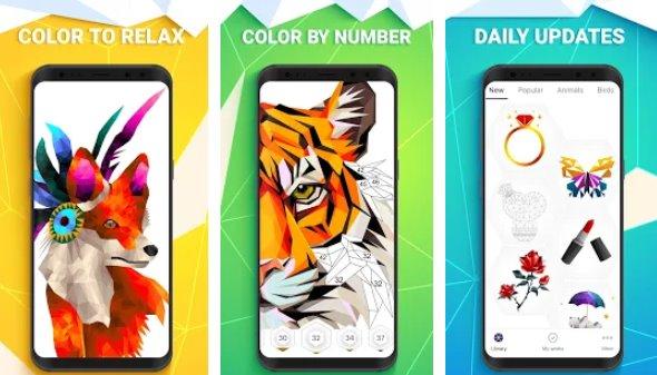 colore poligono per numero APK Android