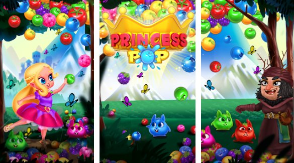 princess pop bubble shooter