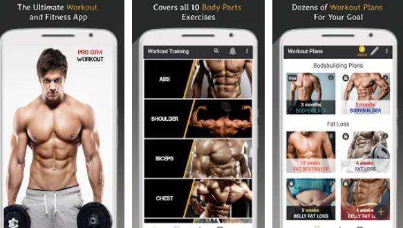 Workout im Fitnessstudio im Fitnessstudio und Fitness APK Android