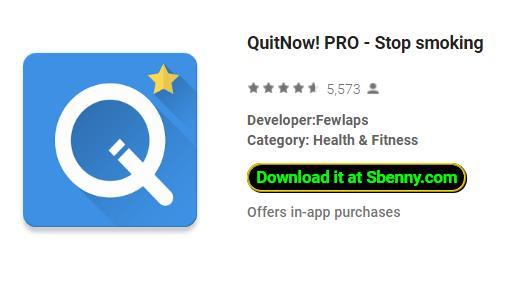 quitnow pro aufhören zu rauchen