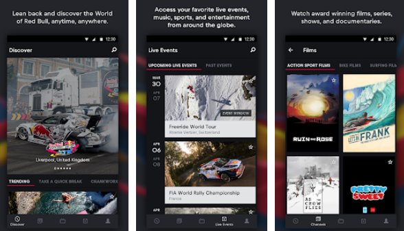 red bull tv sports en direct musique et divertissement APK Android