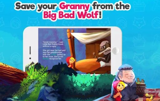 red riding hood interactive game story free tale APK Android