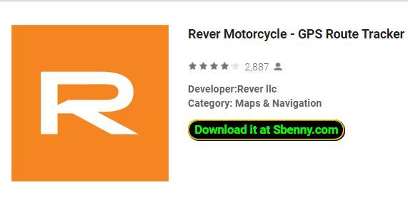 rastreador de ruta rever motocicleta rever y navegación
