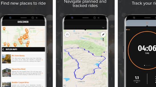 rever motocicleta gps route tracker y navegación APK Android