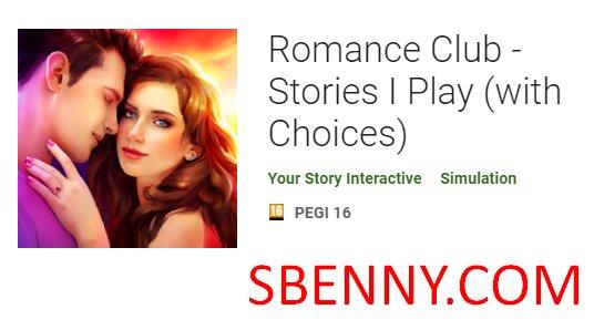 historias de club de romance juego con opciones