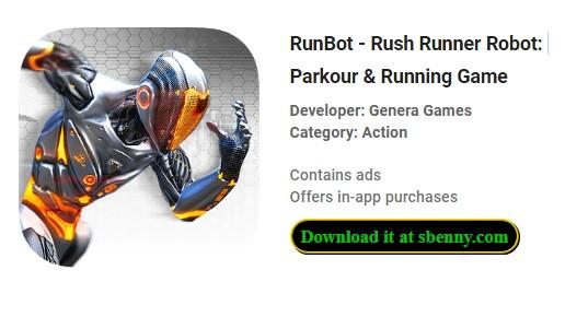 runbot rush runner robot parkour e gioco di corsa