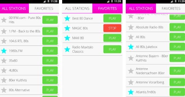 80s music radio pro APK Android