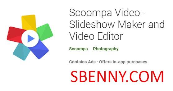 créateur de diaporamas vidéo et éditeur vidéo scoompa
