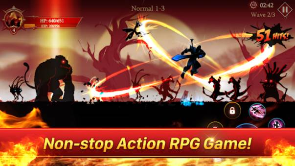 héros de la lutte contre l'ombre des âmes sombres stickman légende APK Android