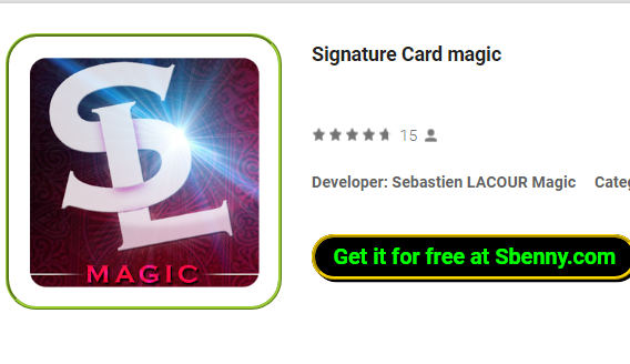 Signature Card magic MOD APK for Android Free Download