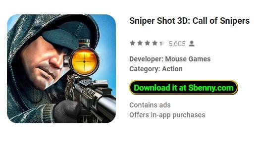 снайпер выстрел 3d вызов снайперов