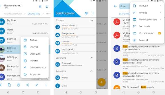 Solid Explorer файловый менеджер APK Android