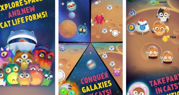 space cat evolution kitty collecting in galaxy APK Android