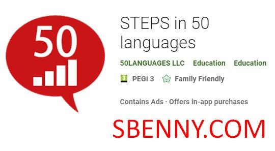 Schritte in 50-Sprachen