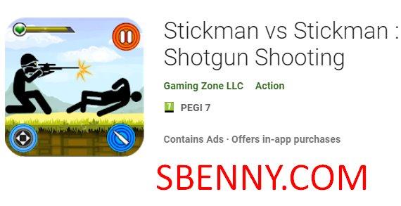 stickman vs tiro de espingarda de stickman