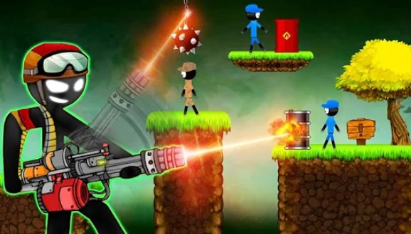 stickman vs stickman shotgun tiro APK Android