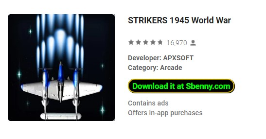 STRIKERS 1945 World War Unlimited Money MOD APK Download
