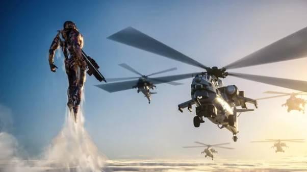 super héros de guerre en acier héros de fer voler robot mech APK Android