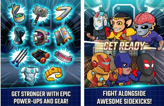 liga super de heróis campeões de quadrinhos APK Android