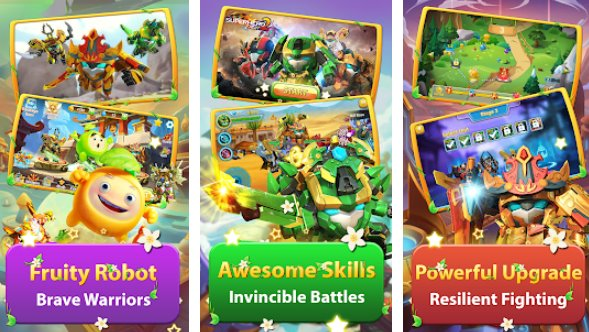 super héros fruits 2 prime robot combats APK Android